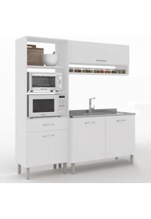 Cozinha Compacta Uccelli 4 Portas 1 Gaveta 600070 Branco - Vedere