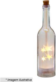 Garrafa Decorativa Com Luz- Incolor & Amarela- 28,5Xmabruk
