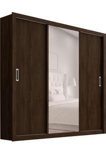 Guarda-Roupa Casal Com Espelho Residence I 3 Pt 2 Gv Ébano