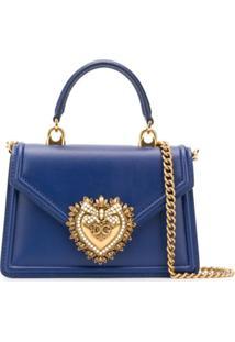 Dolce & Gabbana Bolsa Devotion Pequena - Azul