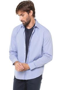 Camisa Ellus Reta Listrada Azul