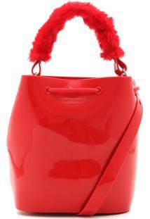 Bolsa Saco Zaxy Pelo Vermelha