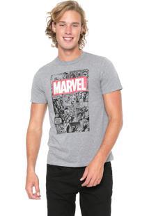 Camiseta Cativa Marvel Vingadores Cinza