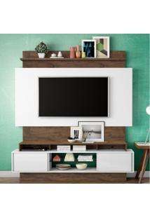 Estante Home Para Tv Até 55 Polegadas 2 Portas De Correr Tb112 Dalla Costa Off White/Nobre