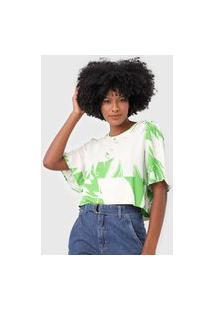 Camiseta Forum Folhagem Off-White/Verde