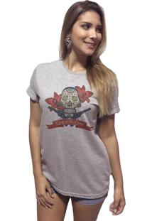 T-Shirt Arimlap Mescla Day Of The Dead Cinza