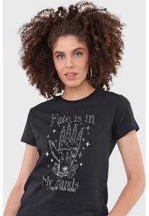 Camiseta Dzarm Estampada Preta