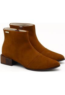 Ankle Boot Nobuck Marrom Noz