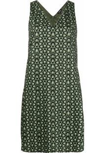 Aspesi Vestido Reto Gola V - Verde