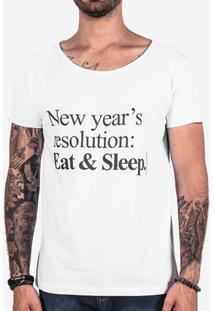 Camiseta Hermoso Compadre New Year'S Resolution Masculina - Masculino-Branco