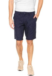 Bermuda Calvin Klein Jeans Chino Flamê Azul-Marinho