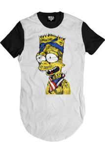 Camiseta Longline American Bart Masculina - Masculino