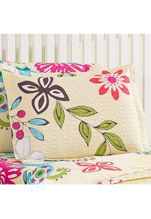 Kit 2 Porta Travesseiros Floral