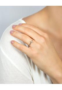 Anel Solitário De Ouro 18K Diamante 7 Pontos To Love