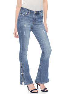 Calça Jeans Carmim Flare Shibuya Azul