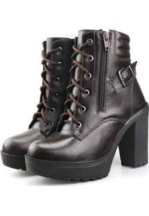 Bota Tratorada Com Fivela Touro Boots Feminina Cafã© Marrom - Cafã©/Caramelo/Castanho/Marrom - Feminino - Dafiti