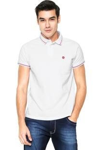 Camisa Polo Timberland Stripes Branca