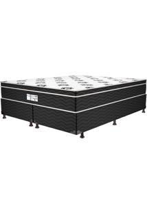 Cama Box Queen Born Black 52X158X198 Cp4 - Prodormir - Branco / Black