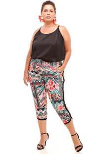 Camisa Melinde Plus Size Ilhós Feminina - Feminino-Coral