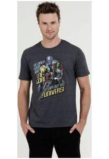 Camiseta Masculina Estampa Vingadores Manga Curta Marvel