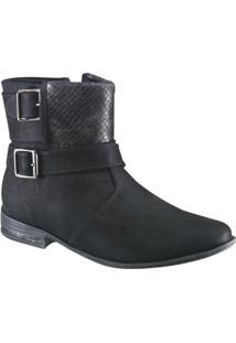 Bota Ankle Boot Ramarim Feminina - Feminino-Preto