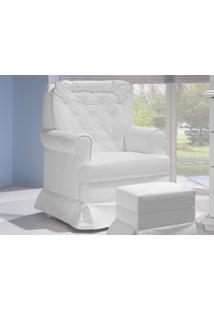 Poltrona De Amamentação Balanço Encanto Branco - Canaã Móveis