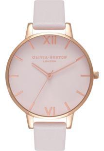 ca5973d7126 ... Relógio Olivia Burton Feminino Couro Branco - Ob16Bd95