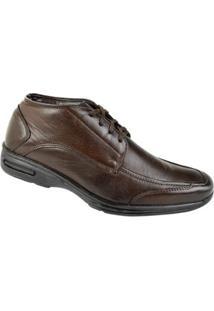 Sapato Social Cadarço Cazzac Masculino - Masculino-Marrom
