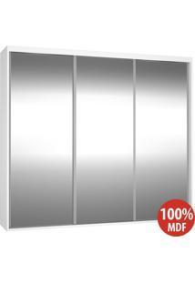 Guarda Roupa 3 Portas De Espelho 100% Mdf 1979E3 Branco - Foscarini