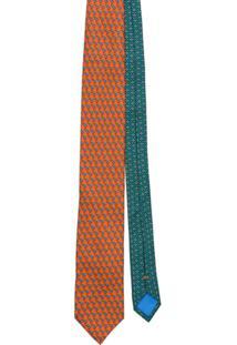 Prada Gravata Estampada - Laranja