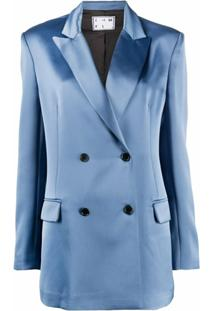 In The Mood For Love Blazer Com Abotoamento Duplo - Azul