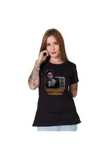 Camiseta Woman Tv Preto
