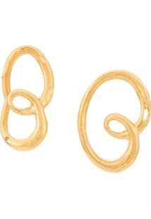 Alighieri Par De Brincos 'The Dreamer'S' Banhado A Ouro 24Kt - Dourado