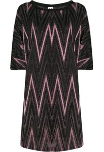 M Missoni Knitted Day Dress - Rosa