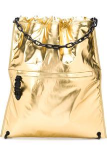 Just Cavalli Drawstring-Fastening Backpack - Dourado