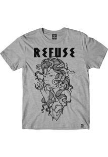 Camiseta Refuse Medusa - Cinza