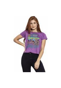 Camiseta Sideway Scooby - Doo - Roxa