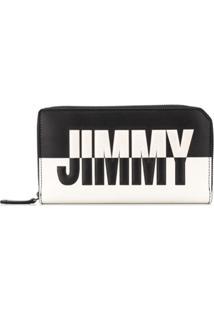 Jimmy Choo Carteira 'Carnaby' Bicolor - Preto