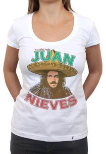 Juan Nieves - Camiseta Clássica Feminina
