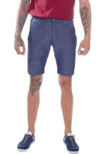 Bermuda Jeans Levis 511 Slim Hemmed Lavagem Média Masculina - Masculino-Azul