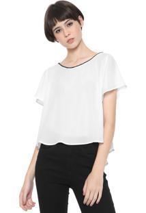 Camiseta Coca-Cola Jeans Fenda Branca