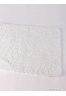 Tapete 60X40Cm Poliéster Branco Extra Soft Coisas E Coisinhas