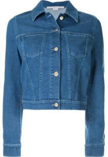 Stella Mccartney Jaqueta Jeans Com Patch De Banana - Azul