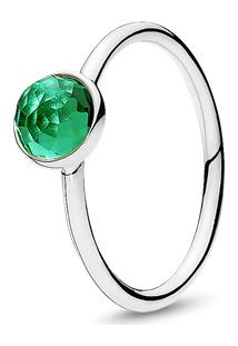 Anel Gota De Cristal Verde - Maio - 50
