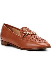 913ecfc6d5d Mocassim Couro Shoestock Tressê Feminino - Feminino-Marrom