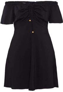 Vestido Curto Almaria Plus Size Sinap Decote Babad