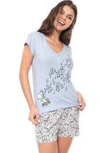Pijama Hering Estampado Azul