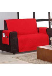 Protetor De Sofá Home 2 E 3 Lugares Vermelho Matelado Mais Duravel Com 2 Peças