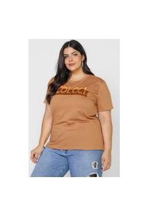Camiseta Colcci Logo Caramelo