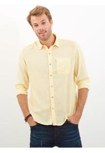 Camisa John John Linen Yellow Amarelo Masculina Camisa Linen Yellow-Amarelo Claro-M
